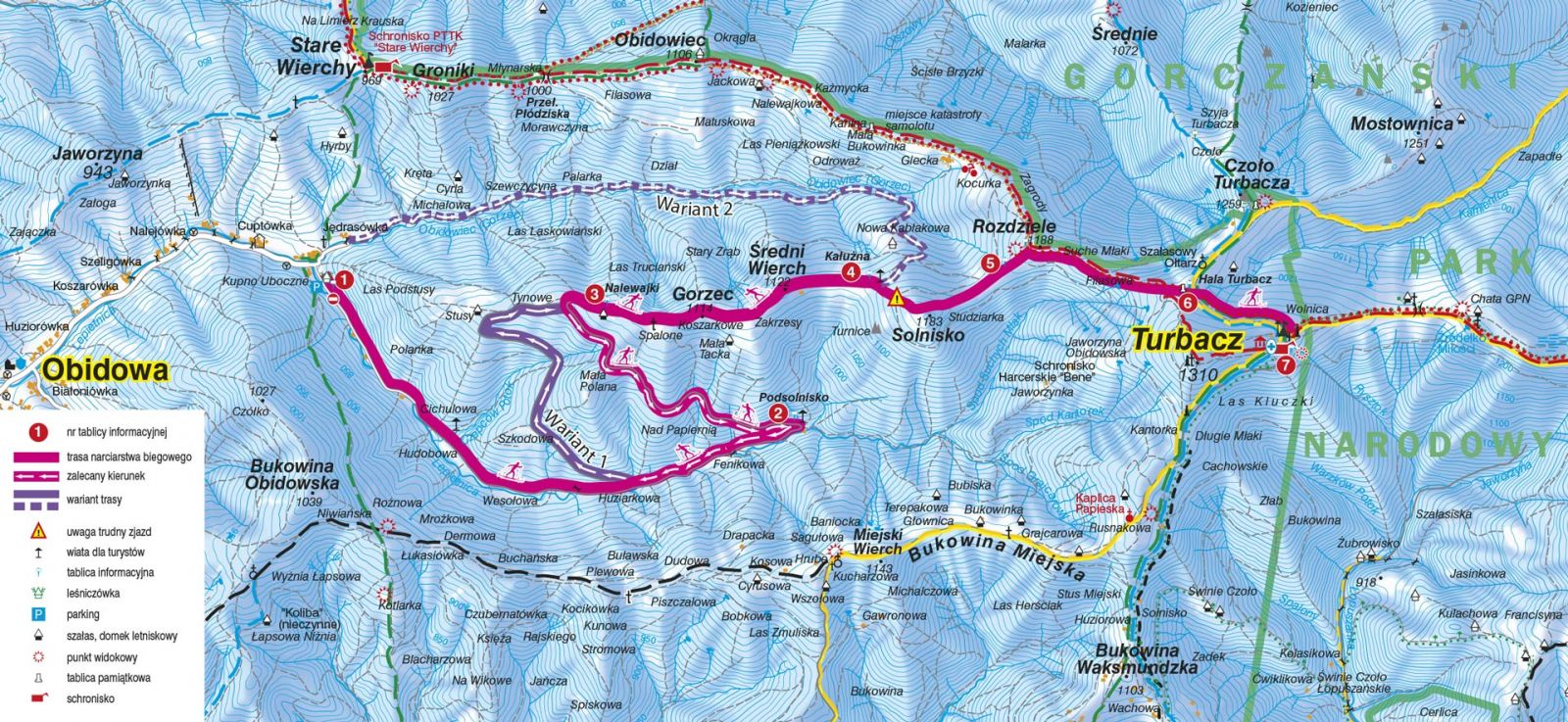 Trasa biegowa Obidowa Turbacz